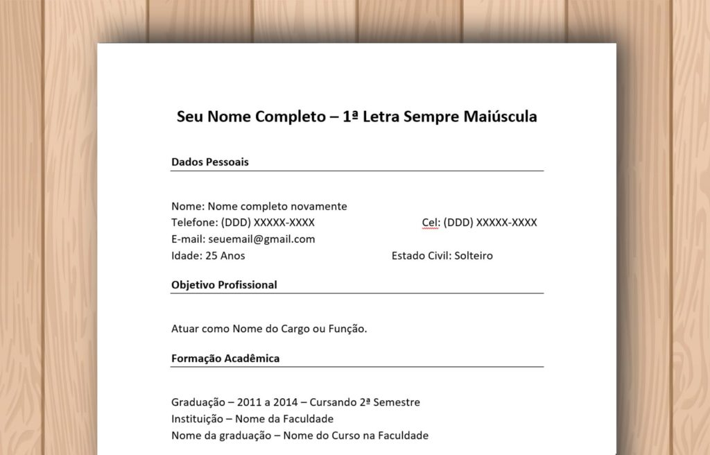 modelo de curr u00edculo 2019 para download